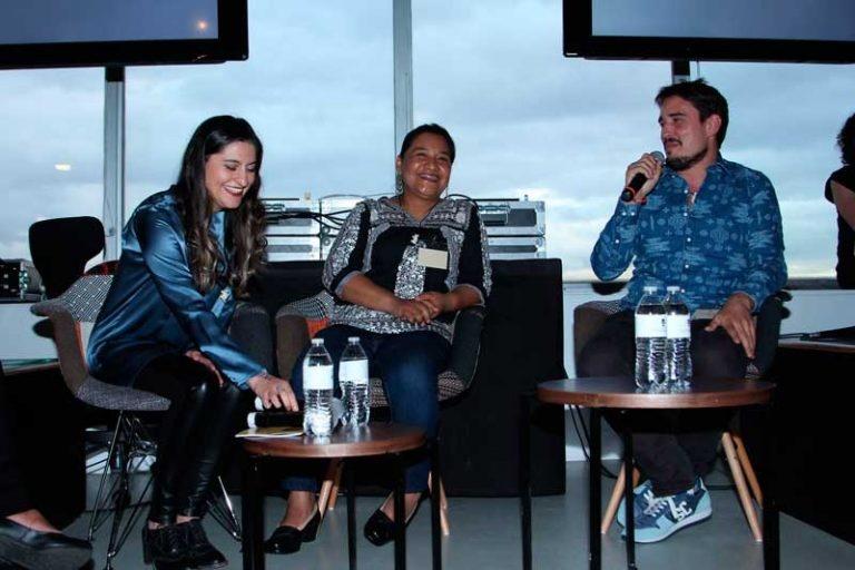 Paola Reyes, María Del Carmen Mendoza y Luro.