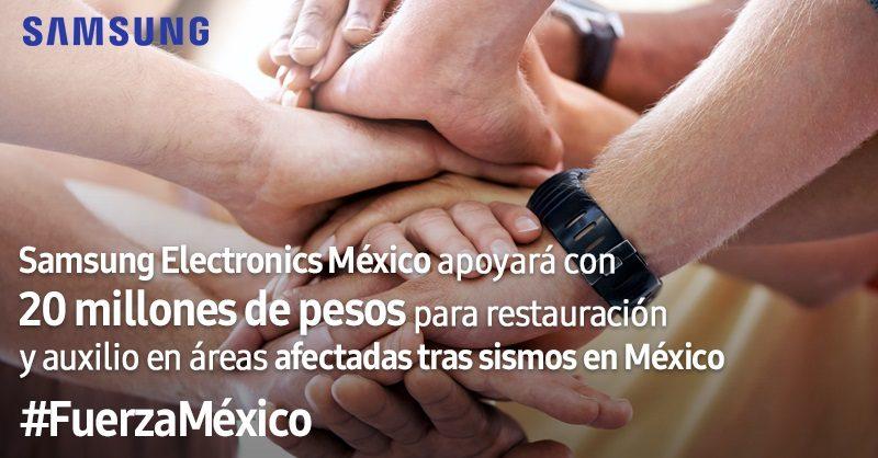 Samsung brinda donativo a comunidades afectadas por sismos en México