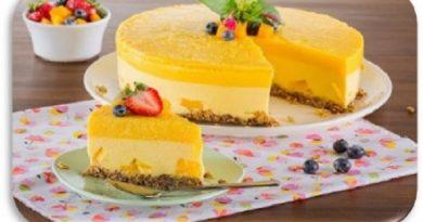 Delicioso mousse de mango deslactosado