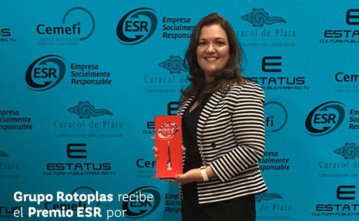 Rotoplas recibe distintivo de empresa socialmente responsable