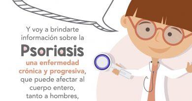 Presentan a la Dra. Psori, personaje de nueva campaña sobre psoriasis