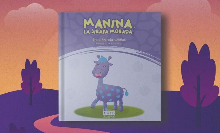 Manina, la jirafa morada, un cuento para todos los niños, especialmente para quienes se sienten diferentes