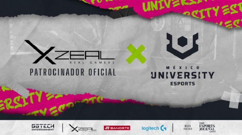 XZEAL ya es patrocinador oficial de University Esports Mx