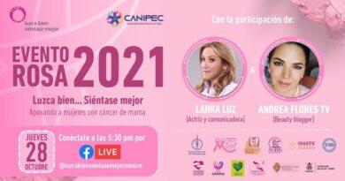 Conéctate al Evento Rosa 2021 y participa en el taller virtual de oncoestética