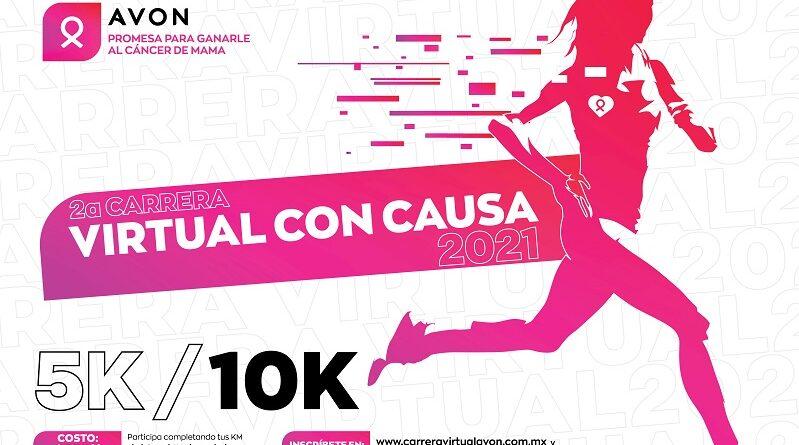 México se pinta de rosa gracias a la Carrera Virtual con Causa Avon 2021